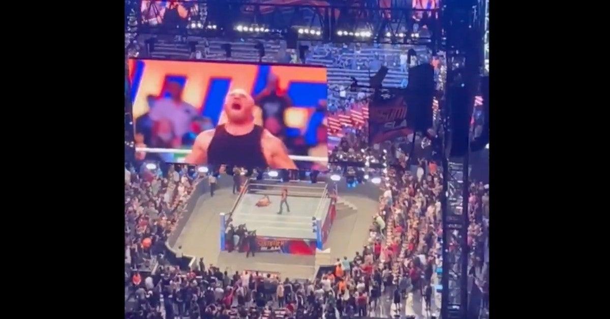 WWE-Brock-Lesnar-Attacks-John-Cena-After-Summerslam