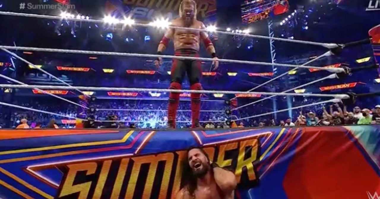 WWE's Edge Defeats Seth Rollins in an Unimaginable Match