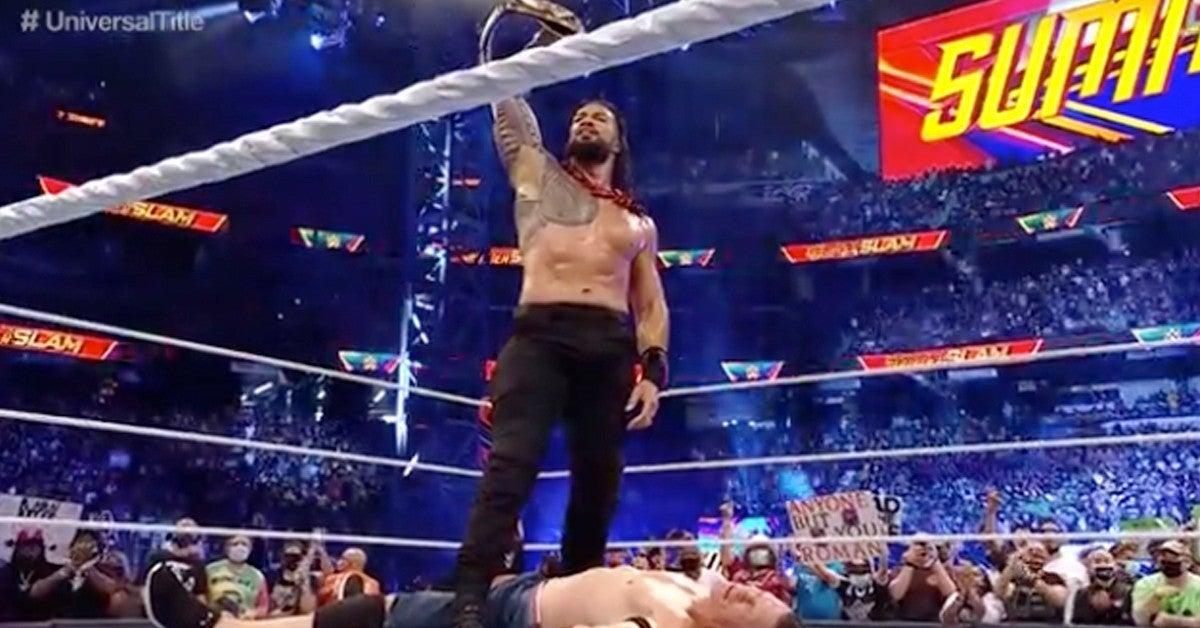 WWE-Roman-Reigns-John-Cena-Match