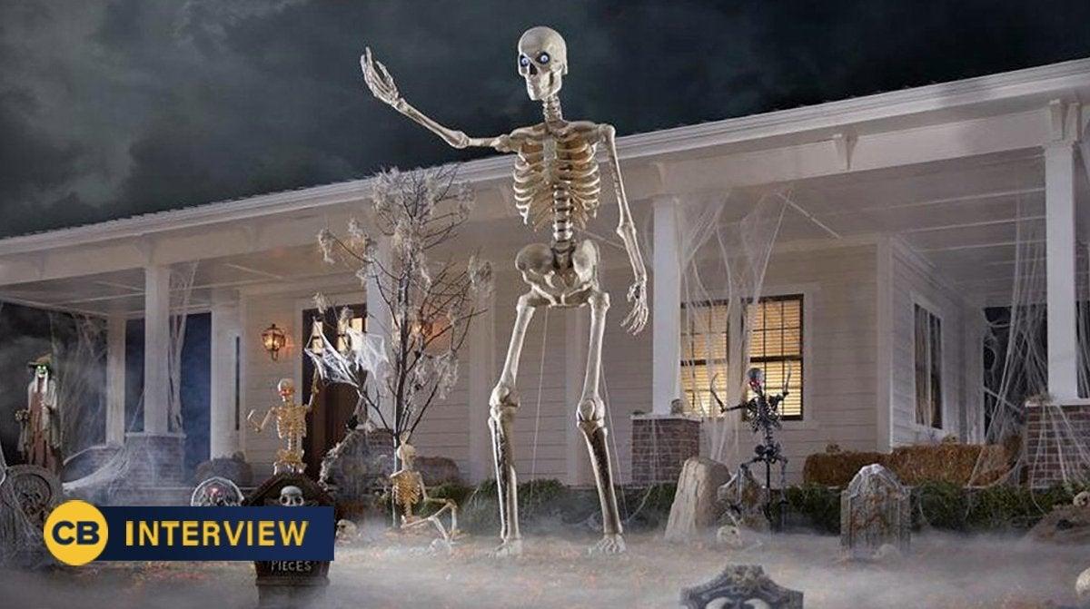 home depot giant skeleton halloween explained interview