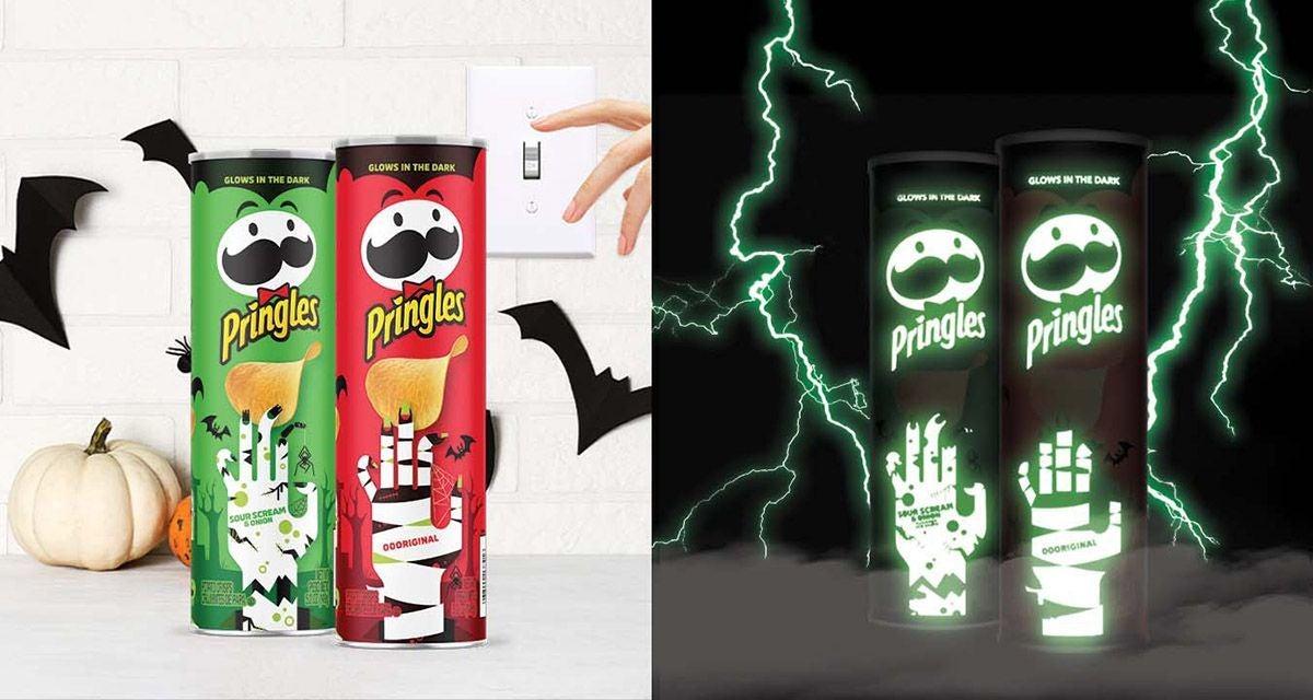 pringles glow in the dark can