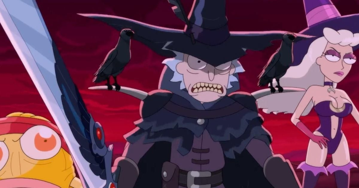 Rick and Morty Season 5 Finale Rick and Two Crows Anime Opening Adult Swim
