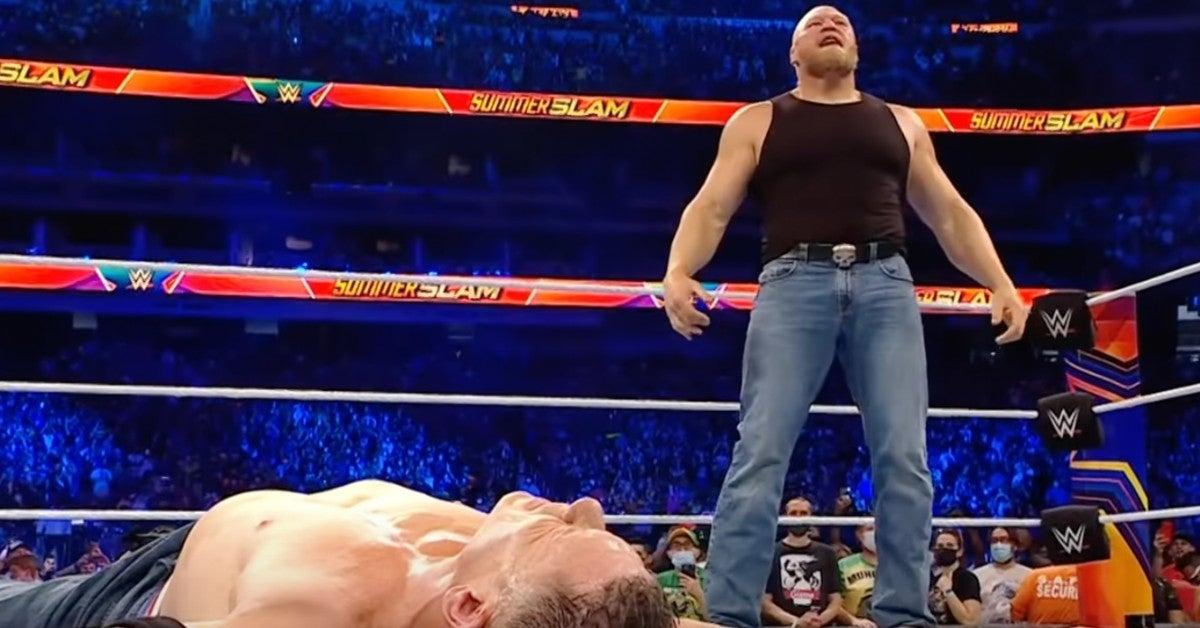 WWE-Brock-Lesnar-Attacks-John-Cena-SummerSlam