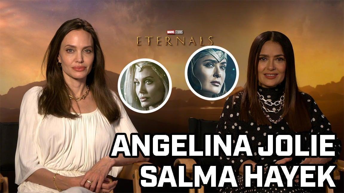 Angelina Jolie and Salma Hayek Talk Eternals - Comicbook.com Exclusive Interview