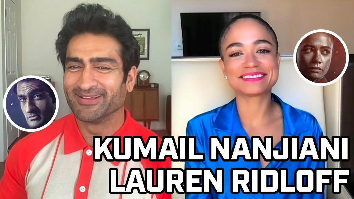 Kumail Nanjiani and Lauren Ridloff Talk Eternals - Comicbook.com Exclusive Interview