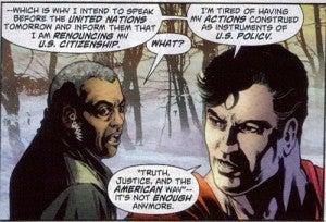 Superman Renounces Citizenship