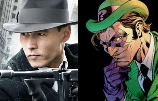Johnny Depp as The Riddler