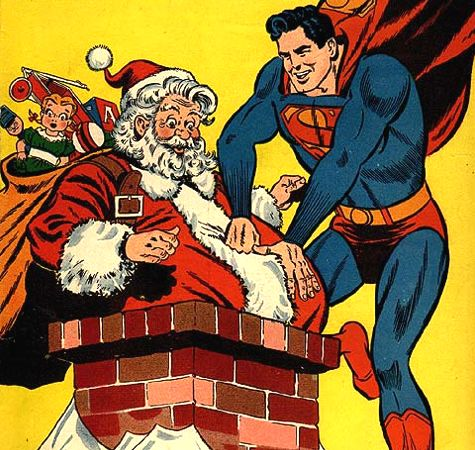 Superman Punches Santa Claus