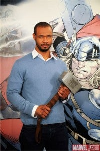 Thor Movie Premiere With Isaiah Mustafa