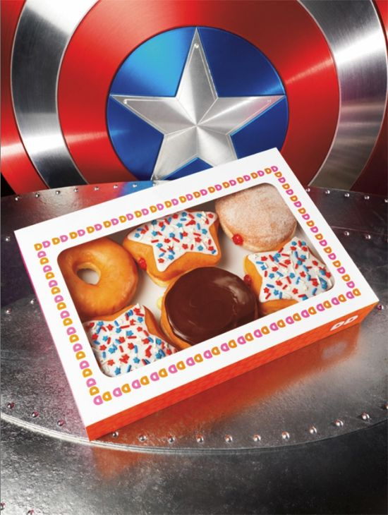 Captain America Movie Dunkin Donuts