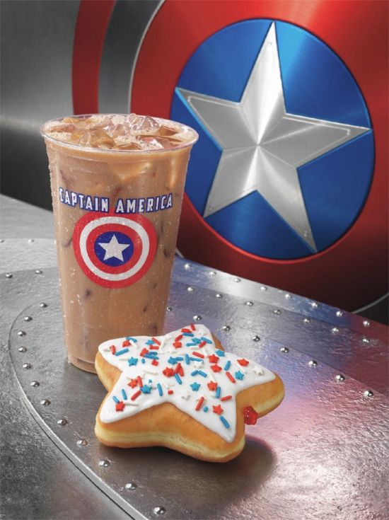 Captain America Movie Dunkin Donuts & Baskin-Robbins