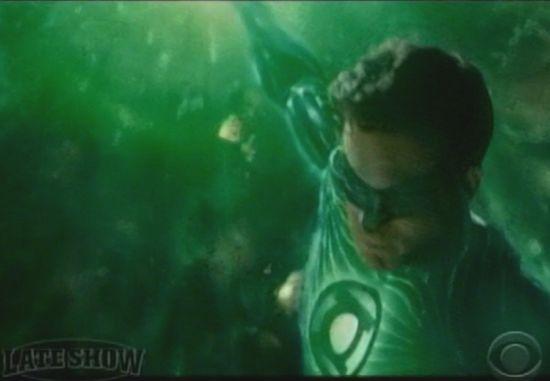 Green Lantern Late Show clip