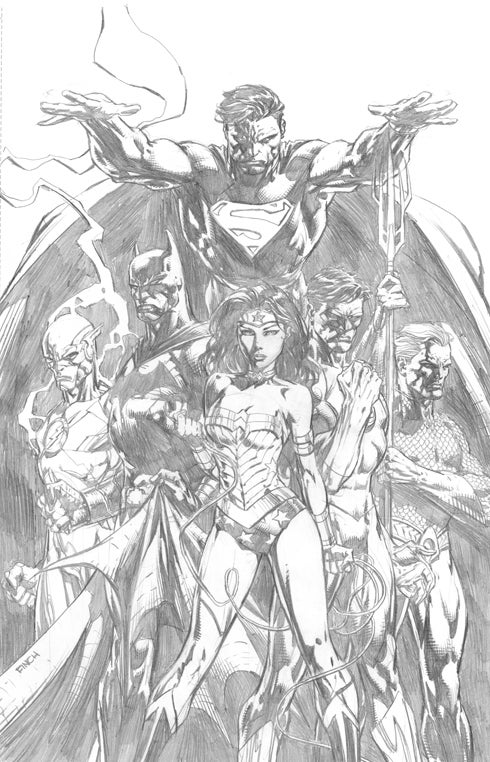 Justice League #1 Variant Cover Black And White