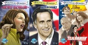Michele Bachmann, Mitt Romney, And Tea Party Comic Books
