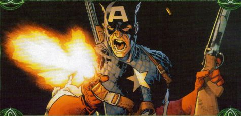 Captain America firing guns