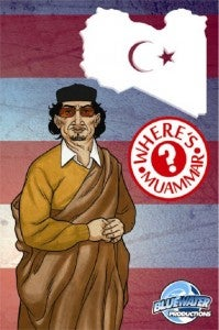 Where's Muammar Gadaffi comic book