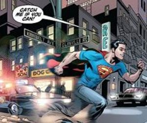 Superman running from law