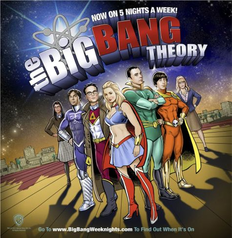 Big Bang Theory comic book backer boards