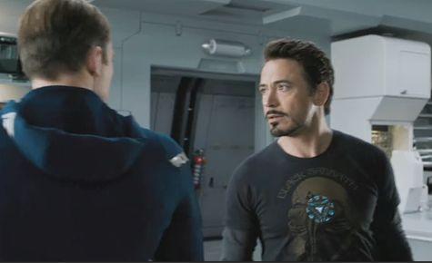 Tony Stark and Captain America