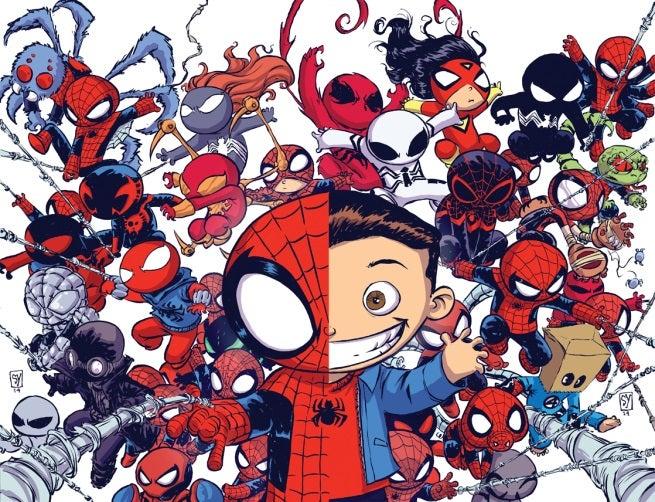 Skottie Young Spider-Verse Variants