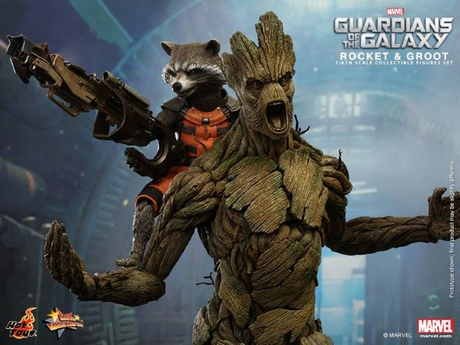 Guardians of the Galaxy hot toys groot and rocket (5)
