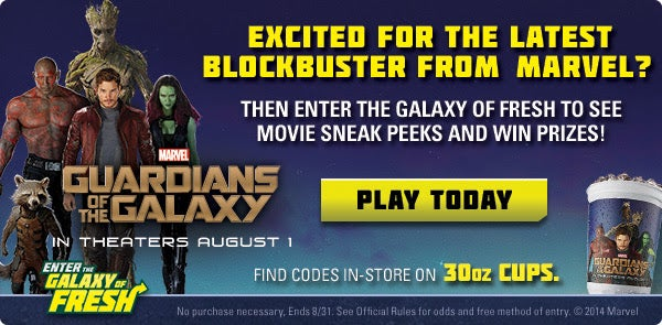 Guardians of the Galaxy To Be Featured On Subway Meals and Merchandising