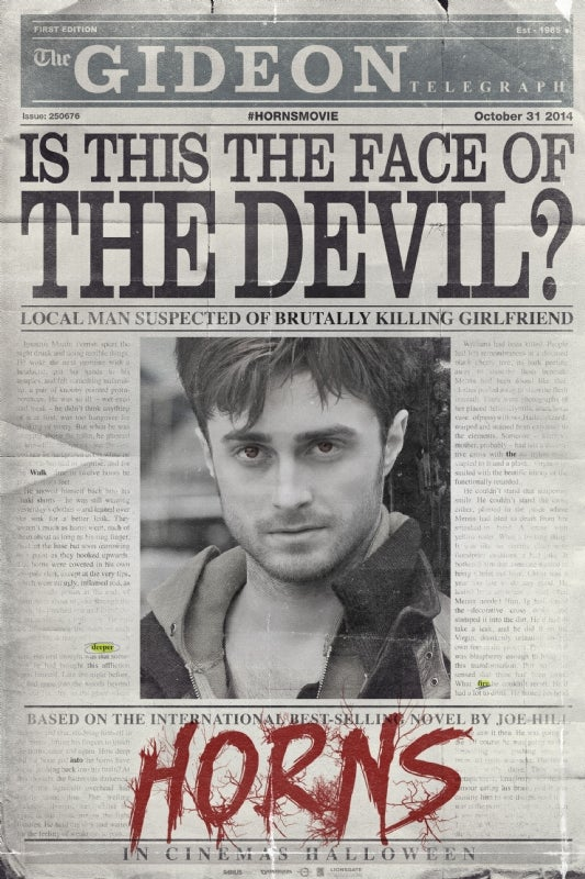 Horns Trailer And Poster Released
