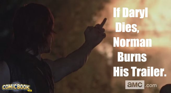 Norman Reedus burns trailer