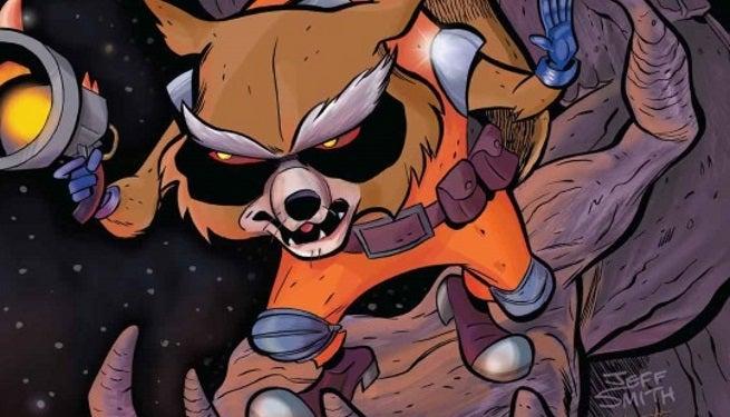 Rocket Raccoon 1 Jeff Smith Variant SDCC Exclusive Top