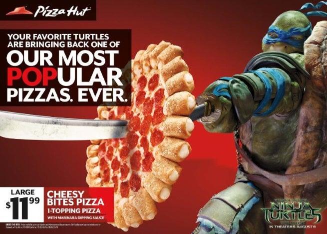 Pizza Hut Partners With Teenage Mutant Ninja Turtles Movie