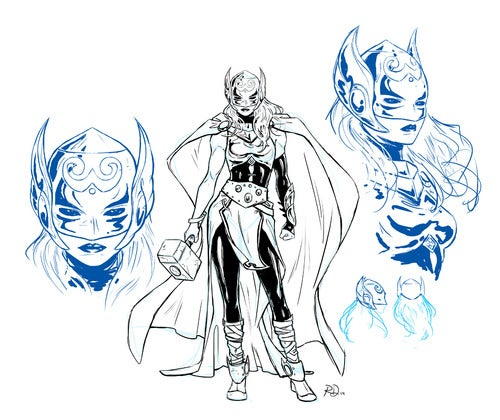Female Thor Character Models Released Online