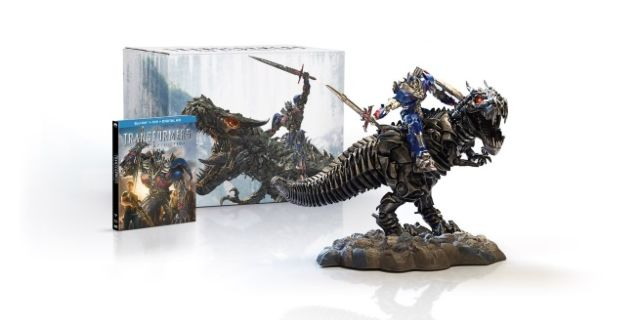 transformers age of extinction blu ray statue
