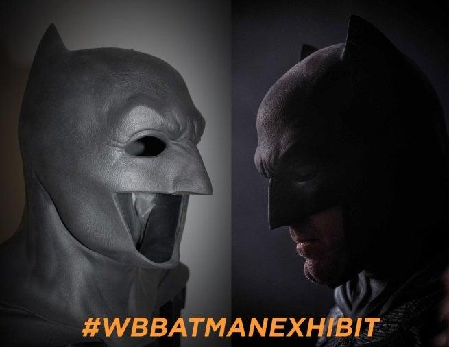 batman cowl exhibit