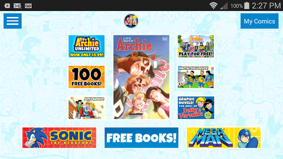 Archie Comics Offers 100 Free Comics On Its App