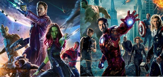 Guardians Of The Galaxy Meet The Avengers