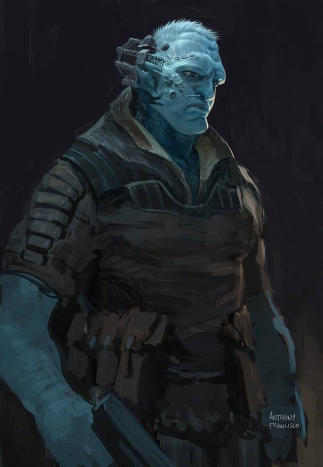 guardians of the galaxy concept art featuring baby groot