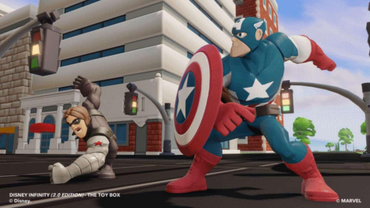 Disney Infinity 2.0 Captain America Sentinel of Liberty Ability Power Disc