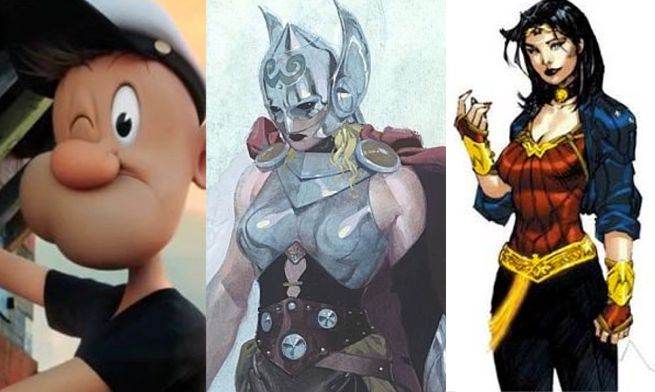 popeye-thor-wonder-woman