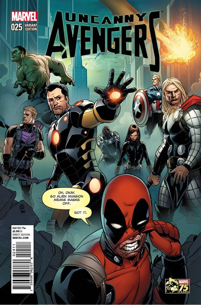 Uncanny Avengers 25 Deadpool Variant Cover Recreates