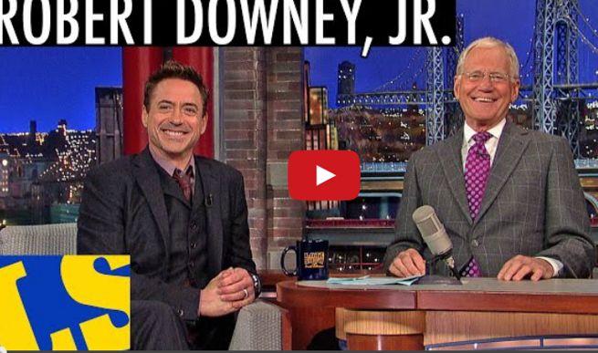 Downey jr. Letterman