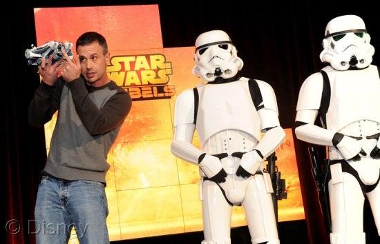 Freddie Prinze, Jr. with Storm Troopers