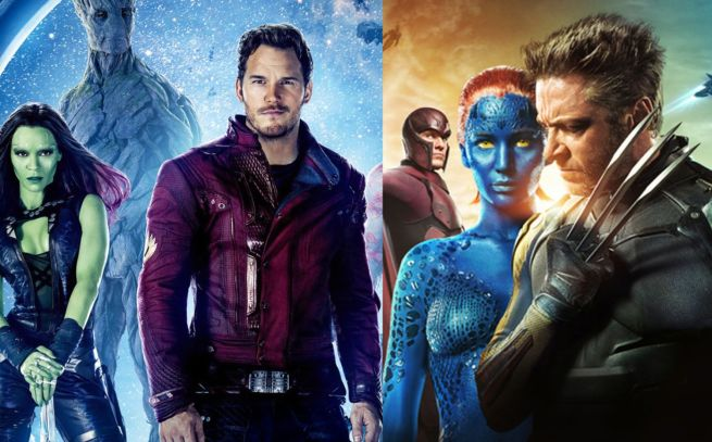 Guardians of the Galaxy, X-Men Days of Future Past