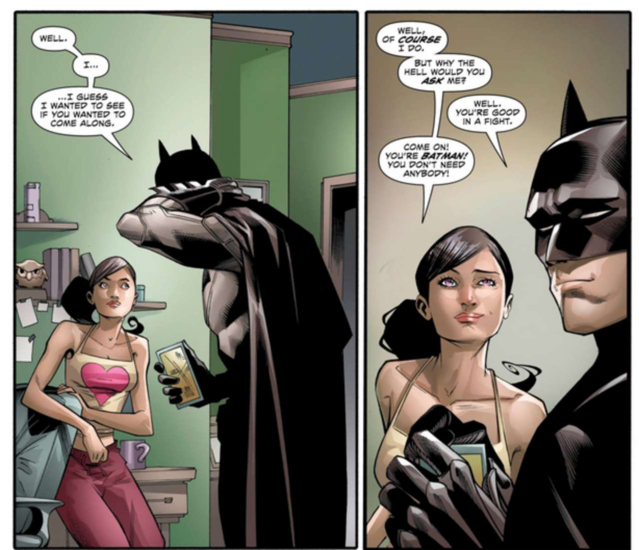 Is wonder woman dating batman