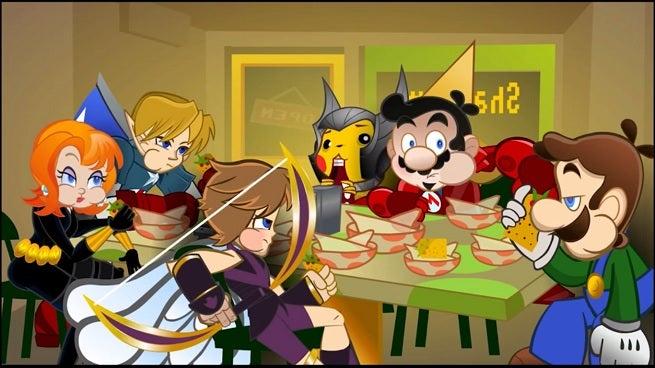 wiivengers-eating