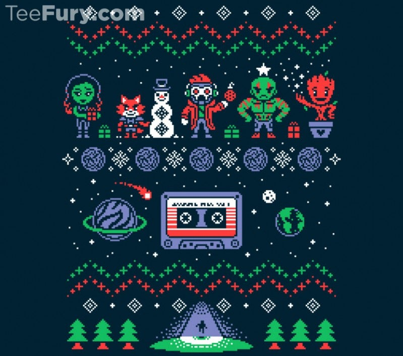The Guardians of the Galaxy Holiday Mix Vol. 1 Christmas Sweater Has Landed