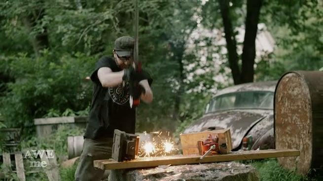 Man At Arms Creates A Sword For Iron Man