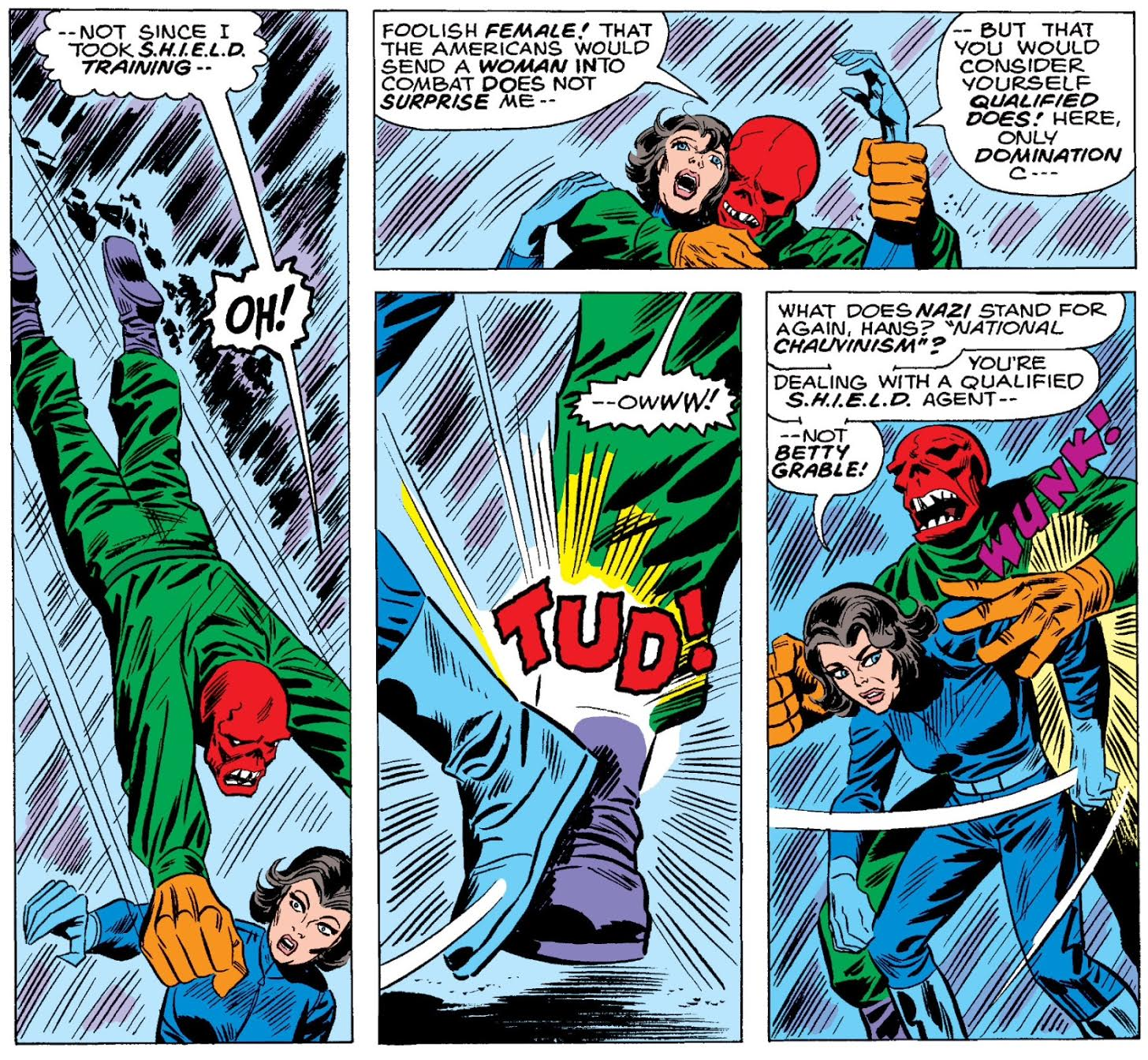 Art by Herb Trimpe, Inking by Frank Giacoia, and Coloring by George Roussos