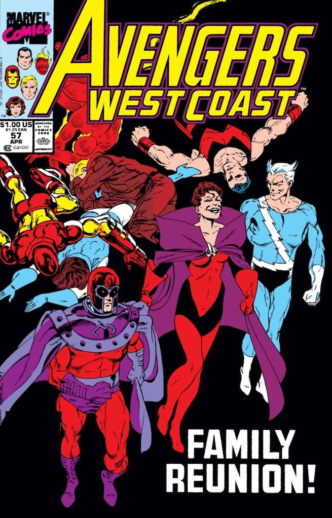 Avengers West Coast 57 cover