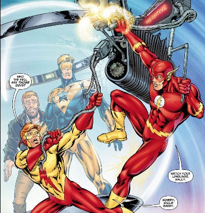 Booster-Gold-Crashes-Time-Sphere-Into-The-Flash-Cosmic-Treadmill