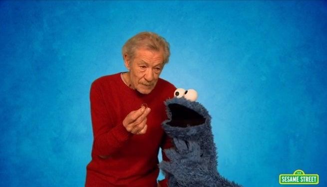 Gandalf Teaches Cookie Monster How To Resist on Sesame Street